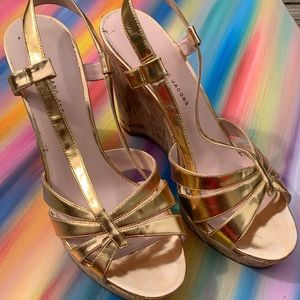 Marc by MarcJacobs Rosy Golden Wedges size40.5 GUC